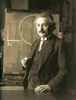 Albert Einstein during a lecture in Vienna in 1921.