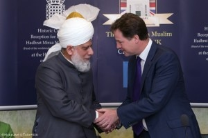 The Rt. Hon. Nick Clegg MP, Deputy Prime Minster, meeting His Holiness.