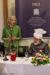 "Theresa May MP, the Home Secretary said ""we should all listen and heed to"" His Holiness' message."