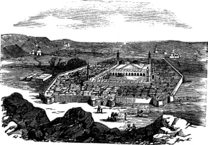 Vintage engraved illustration, Holy city and burial place of the Holy Prophet Muhammadsa, Founder of Islam  (Trousset Encyclopedia (1886-1891)
