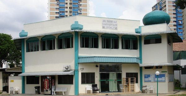 The Taha Mosque in Singapore, built by the Ahmadiyya Muslim Community. Hazrat Mirza Masroor Ahmadabadelivered the Friday Sermon from here during his recent tour of Singapore.