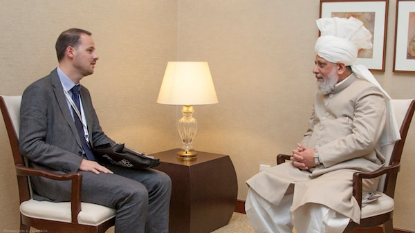 Mr. Thomas Bondiguel, Premier Secretaire of France, meeting His Holiness.