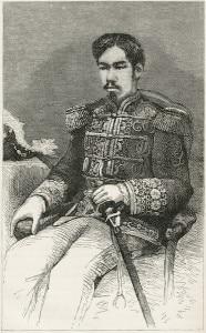 The Meiji Emperor of Japan aka Mutsuhito. Image source: Harper's Monthly, september 1876. © Stocksnapper | shutterstock.com
