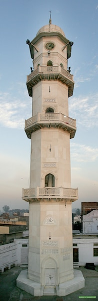 Minartul Masih: In accordance with divine instructions and in order to fulfill a prophecy of the Holy Prophetsa, the Promised Messiahas laid the foundation stone of this minaret on Friday 13 March 1903.
