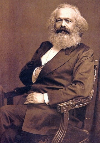 Karl Marx had a philosophy about landownership and the State, which suppressed individual freedoms and progress. (Accessed via Wiki Commons)