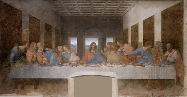 The Last Supper revolves around the sharing of bread and wine. This reinforces the sacred connotations of alcohol within the Christian Faith. Copyright: (Accessed via Wiki Commons)
