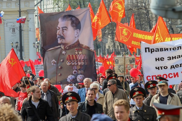 When the Communist system faces challenges, it is replaced by dictatorship, as seen in Russia. Lenin was followed by Stalin as dictator. © De Visu | Shutterstock.com