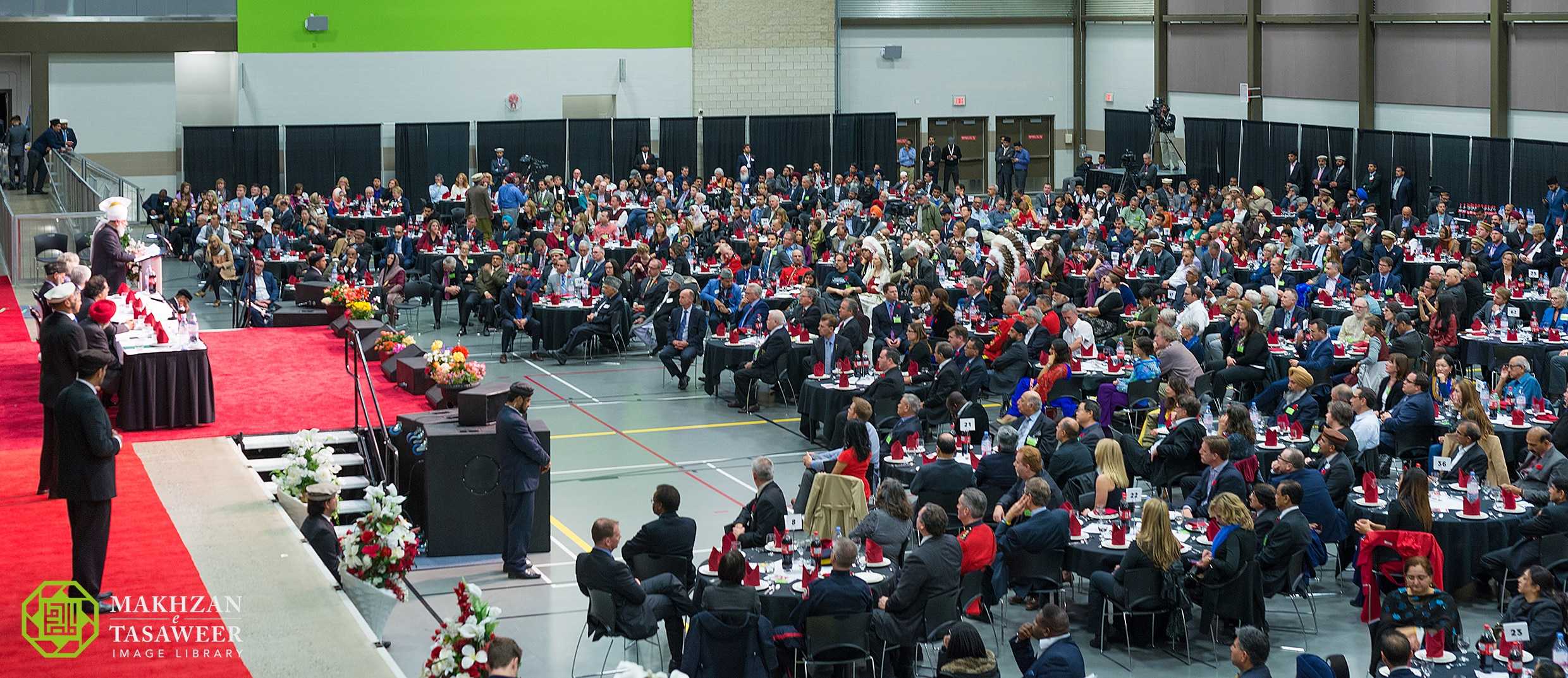 His Holiness, Hazrat Mirza Masroor Ahmadaba, delivered the keynote address at the Calgary Peace Symposium