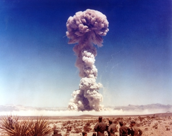 This photo shows the power of a 21 kiloton atomic test. With nuclear weapons so readily available, we are living in a time where a world war can erupt at any moment—and the e ects will be substantially greater than any previous war. © Everett Historical | Shutterstock