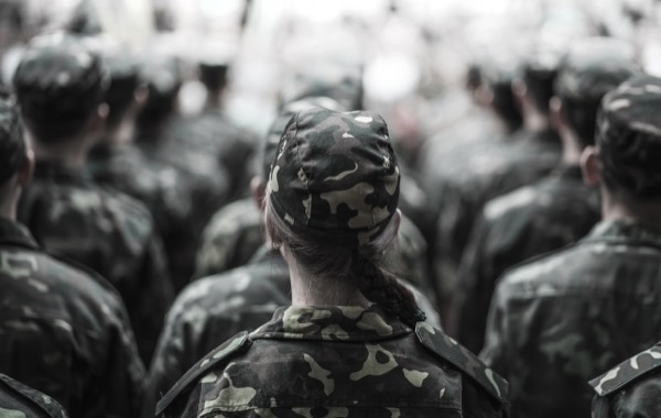 Women serving on the frontline may inevitably divert the focus of male soldiers away from the enemy. © Mariia Ivanets | Shutterstock