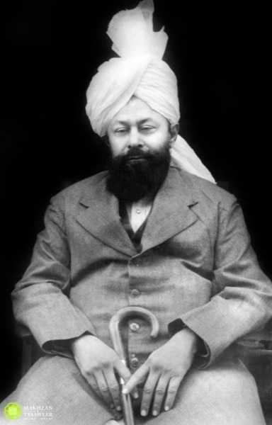 Hazrat Mirza Bashir-ud-Din Mahmood Ahmadra (also known as Hazrat Musleh-e-Maud), the second successor of the Promised Messiah (as), and Worldwide Head of the Ahmadiyya Muslim Community from 1914-1965.