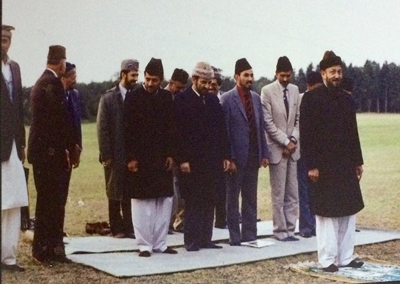 First prayer at Islamabad, Tilford, Surrey.