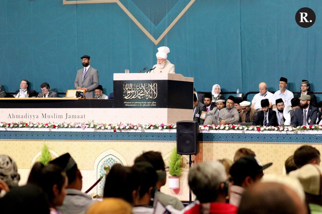 Huzur's address with external guests