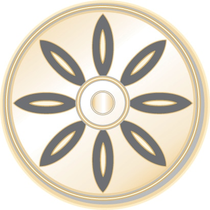 Symbol of Buddhism: Dharmachakra, the eight-spoked wheel