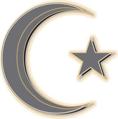 Symbol of Islam: Crescent Moon and Star