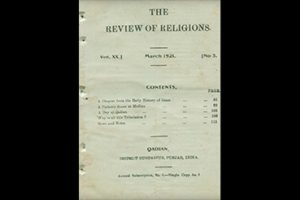 100 Year Rewind - The Review of Religions March 1921