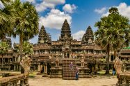Angkor Wat, a Buddhist temple in Siem Reap, Cambodia