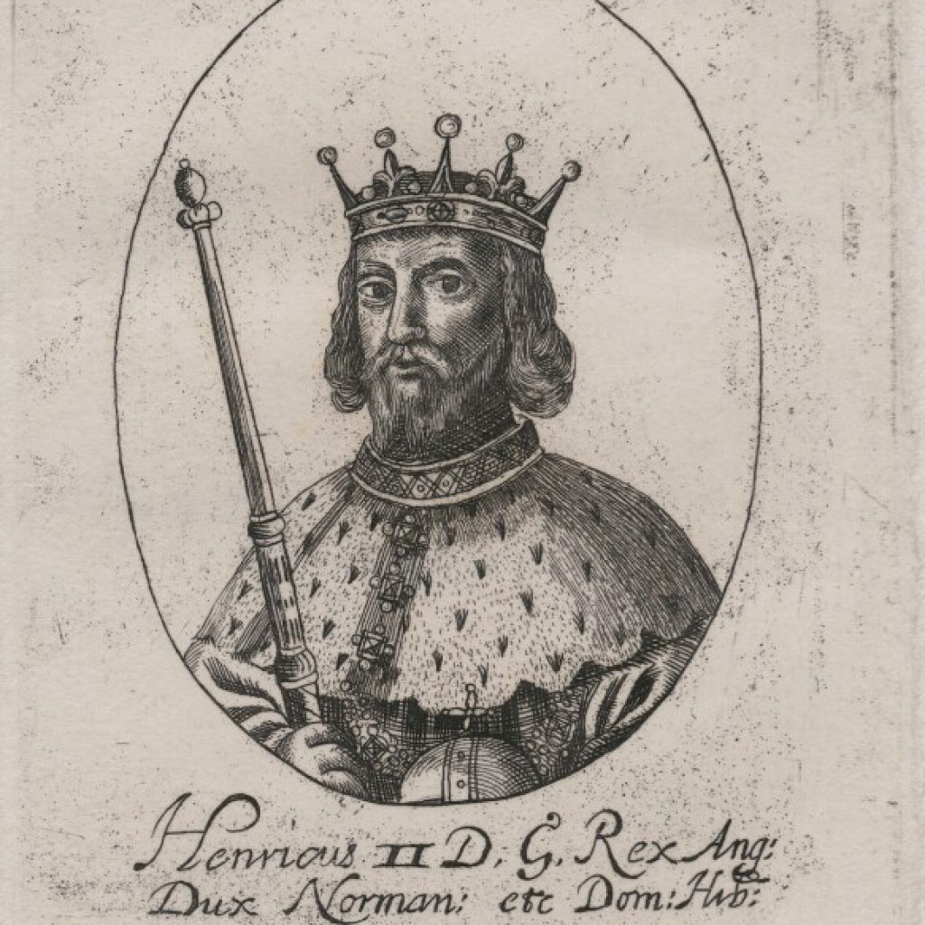Illustrated portrait of King Henry II