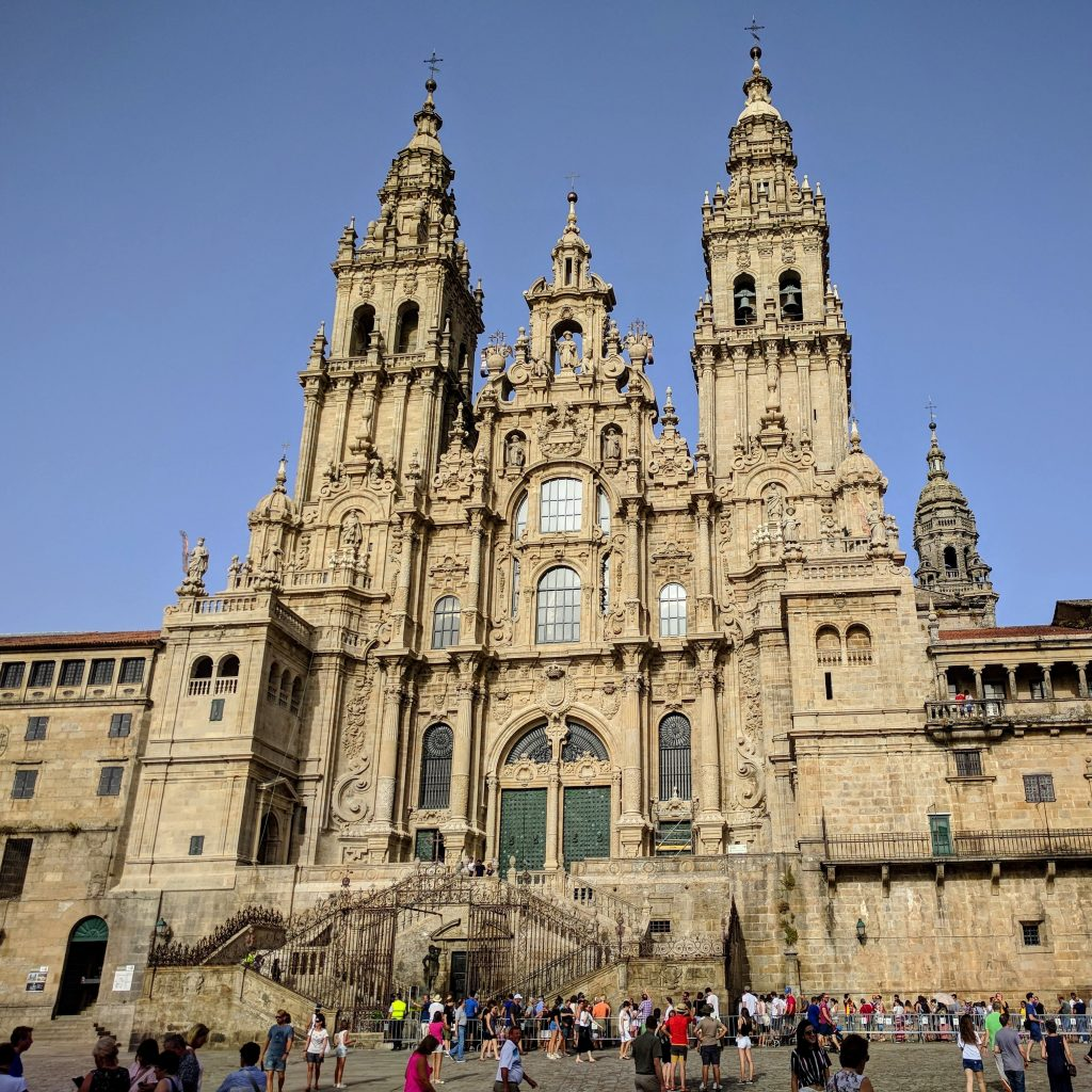 Image of the Santiago de Compostela which was heavily influenced by the architecture of the Middle East.