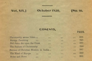 Review of Religions October 1920 Edition