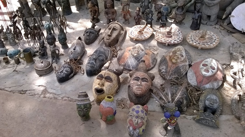 African masks and statuettes