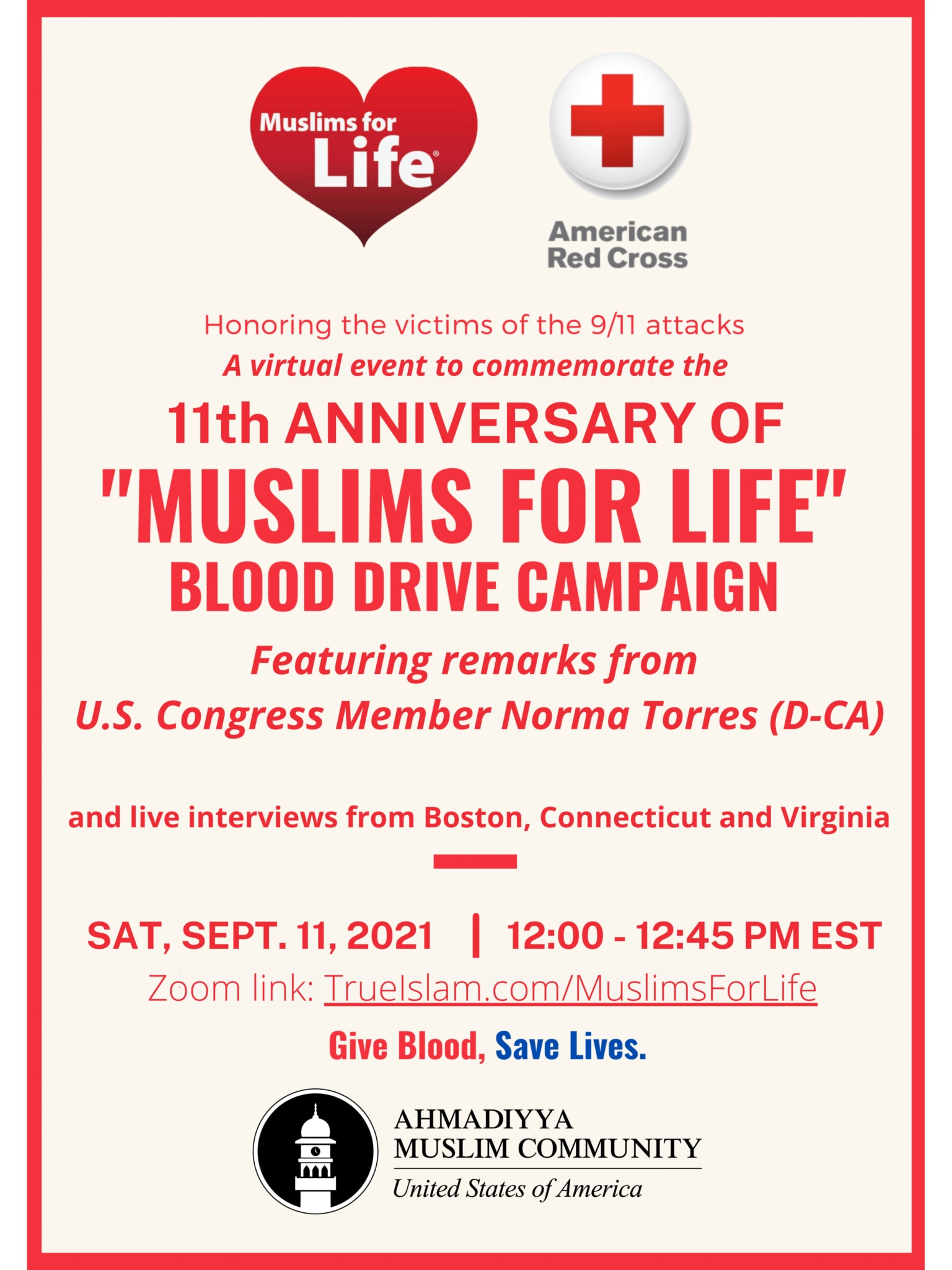 'Muslims for Life' Campaign Poster for 2021